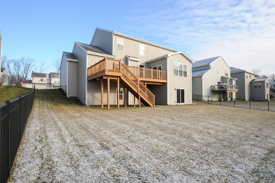 Real Estate Photography - 2365 Kelsey Court, Lindenhurst, IL, 60046 - Rear View