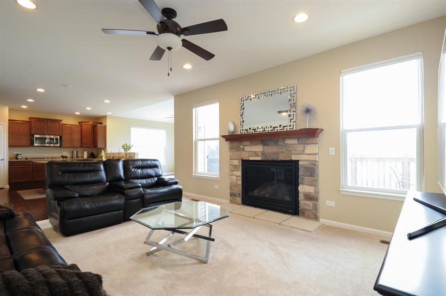 Real Estate Photography - 2365 Kelsey Court, Lindenhurst, IL, 60046 - Family Room / Kitchen