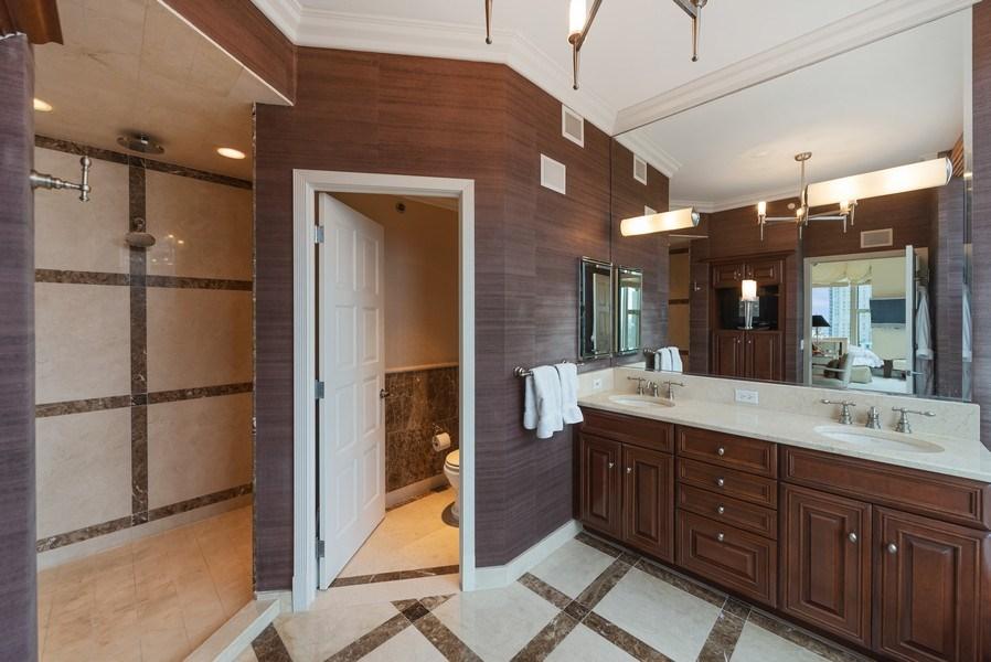 Real Estate Photography - 25 E. Superior Street, Unit 4201, Chicago, IL, 60611 - Master Bathroom