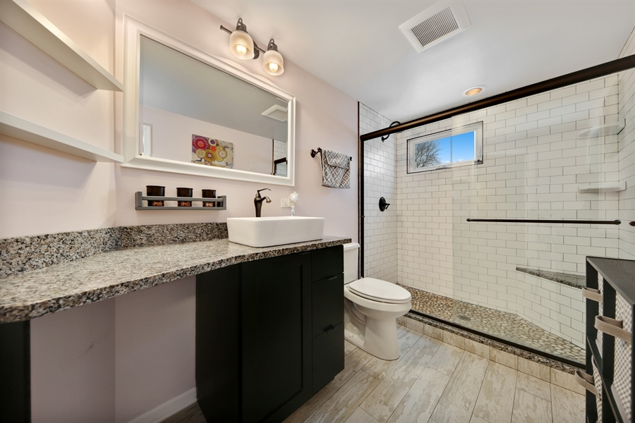 Real Estate Photography - 9138 Grant Ave, Brookfield, IL, 60513 - Master Bathroom