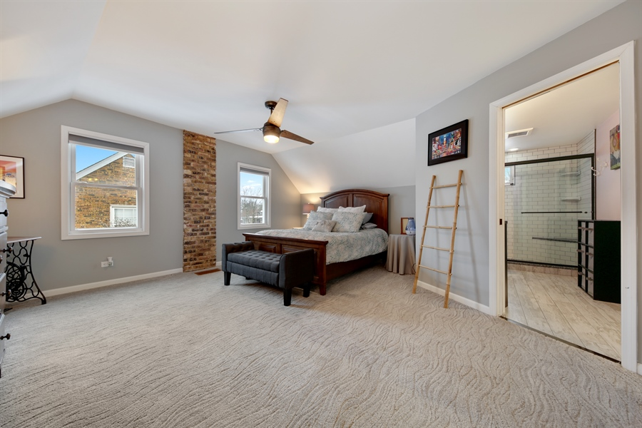 Real Estate Photography - 9138 Grant Ave, Brookfield, IL, 60513 - Master Bedroom