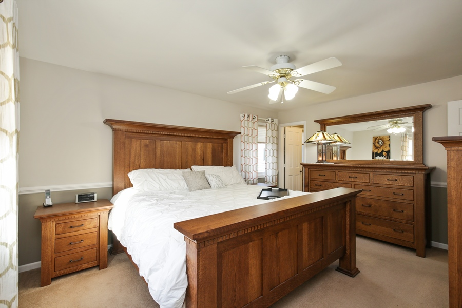 Real Estate Photography - 14N764 Oliver Drive, Elgin, IL, 60124 - Master Bedroom