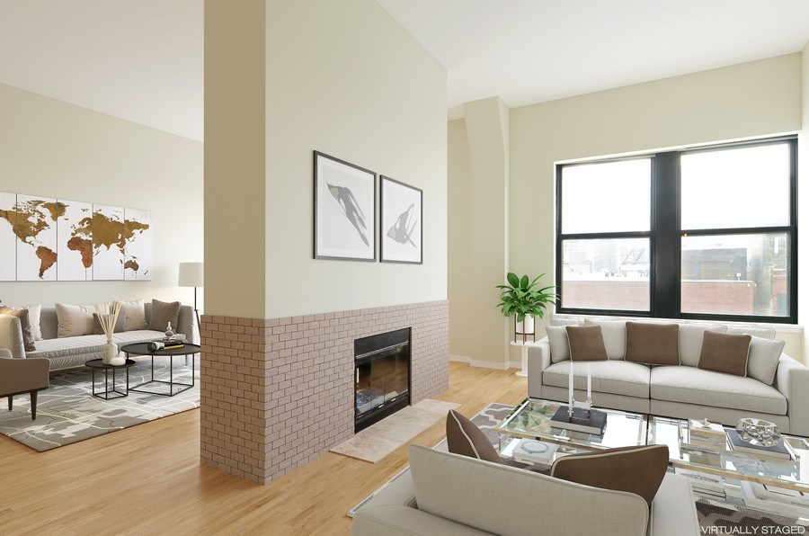 Real Estate Photography - 411 W. ONTARIO Street, Unit 721, Chicago, IL, 60654 - Living Room