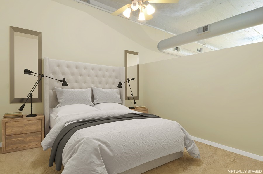 Real Estate Photography - 411 W. ONTARIO Street, Unit 721, Chicago, IL, 60654 - 2nd Bedroom