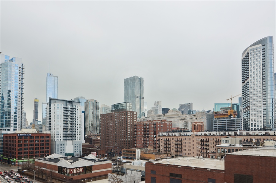 Real Estate Photography - 411 W. ONTARIO Street, Unit 721, Chicago, IL, 60654 - Deck View From Unit