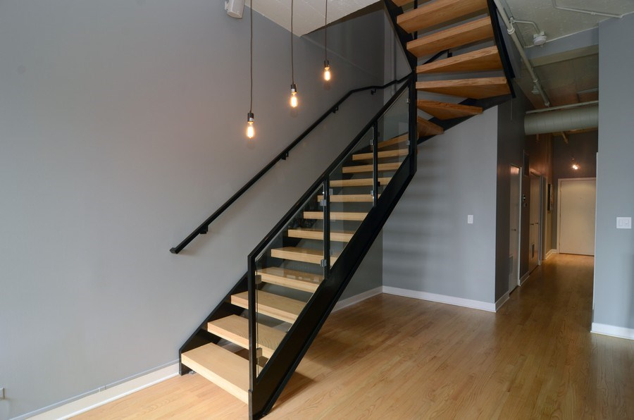 Real Estate Photography - 411 W. ONTARIO Street, Unit 721, Chicago, IL, 60654 - Staircase