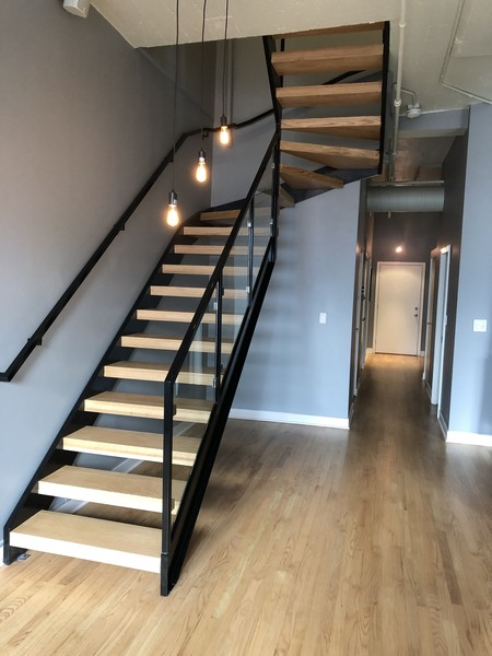 Real Estate Photography - 411 W. ONTARIO Street, Unit 721, Chicago, IL, 60654 - Renovated Staircase