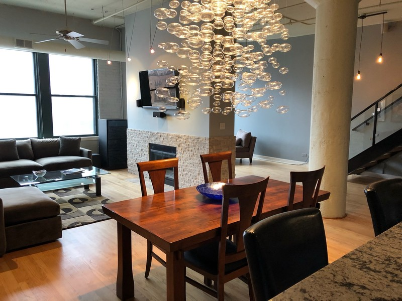 Real Estate Photography - 411 W. ONTARIO Street, Unit 721, Chicago, IL, 60654 - Dining Room