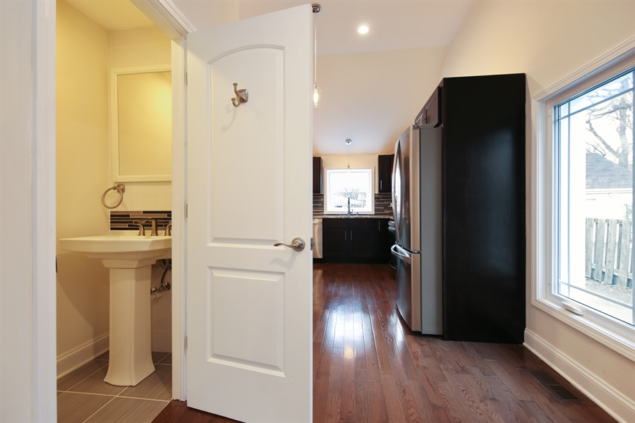 Real Estate Photography - 4112 Forest Ave, Downers Grove, IL, 60615 - Powder Room