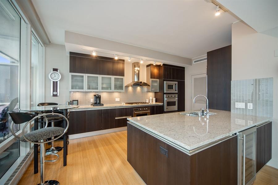 Real Estate Photography - 340 E. RANDOLPH Street, Unit 5401, Chicago, IL, 60601 - Kitchen