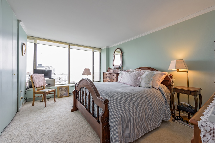 Real Estate Photography - 5455 N. Sheridan Road, Unit 2703, Chicago, IL, 60640 - Bedroom