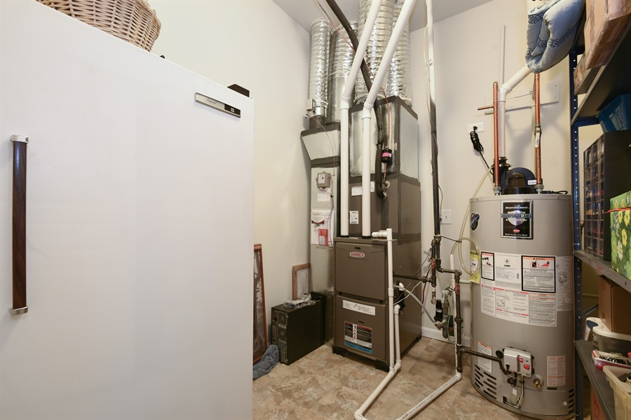 Real Estate Photography - 811 Rocky Gap Drive, Elgin, IL, 60124 - MECHANICAL ROOM WITH EXTRA STORAGE