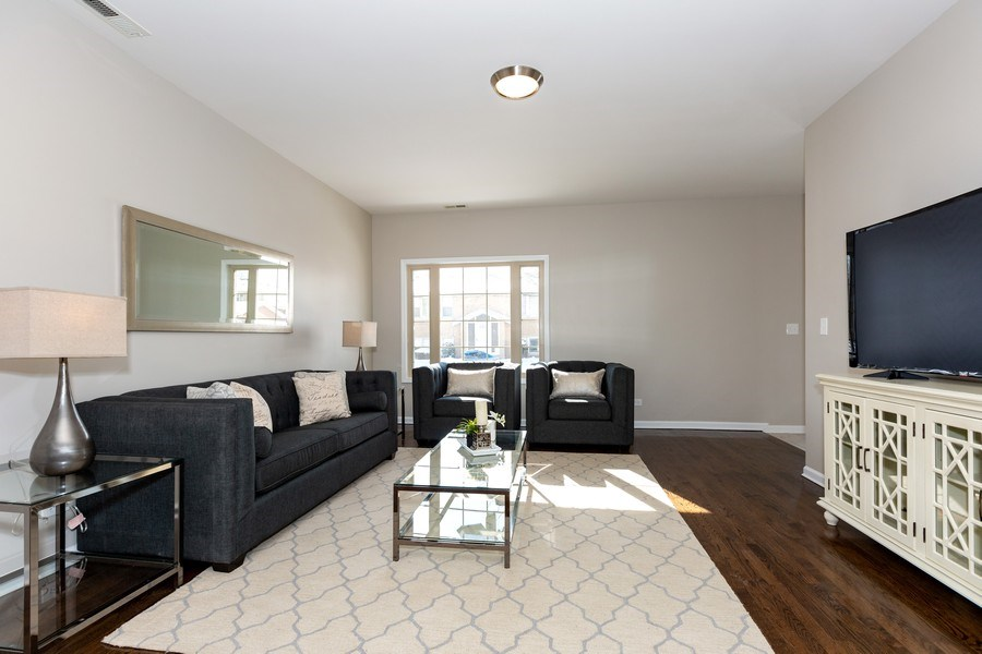 Real Estate Photography - 1803 Haddon Street, Melrose Park, IL, 60160 - Living Room
