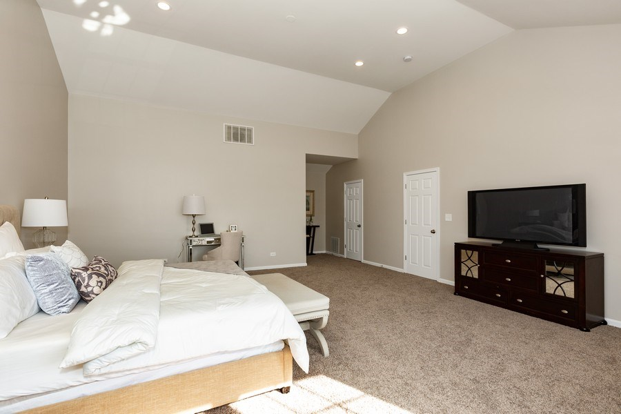 Real Estate Photography - 1803 Haddon Street, Melrose Park, IL, 60160 - Master Bedroom