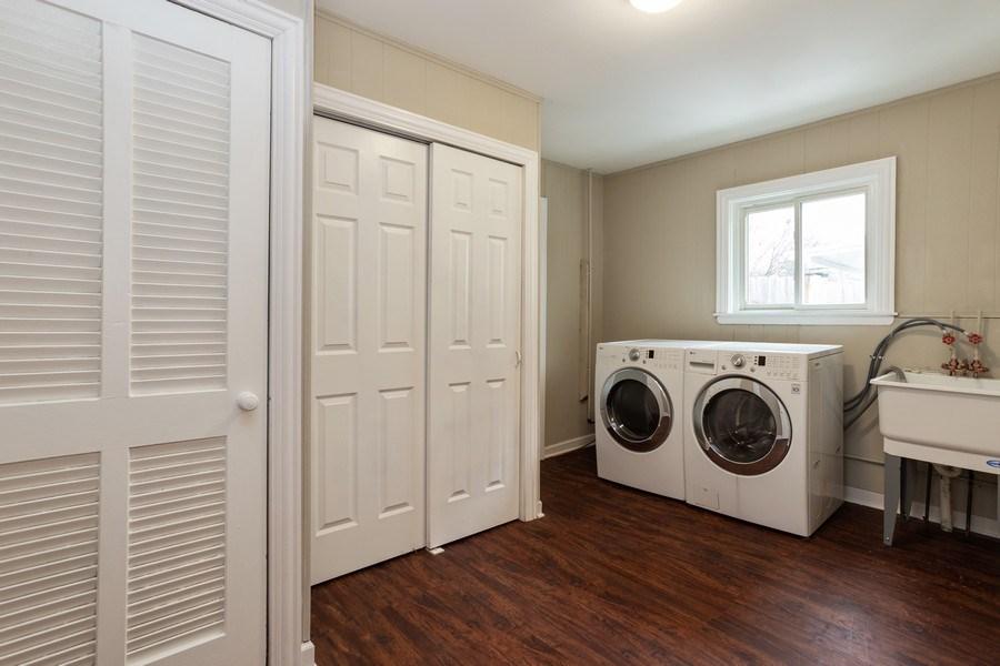 Real Estate Photography - 244 S. Michigan Avenue, Addison, IL, 60101 - Laundry Room