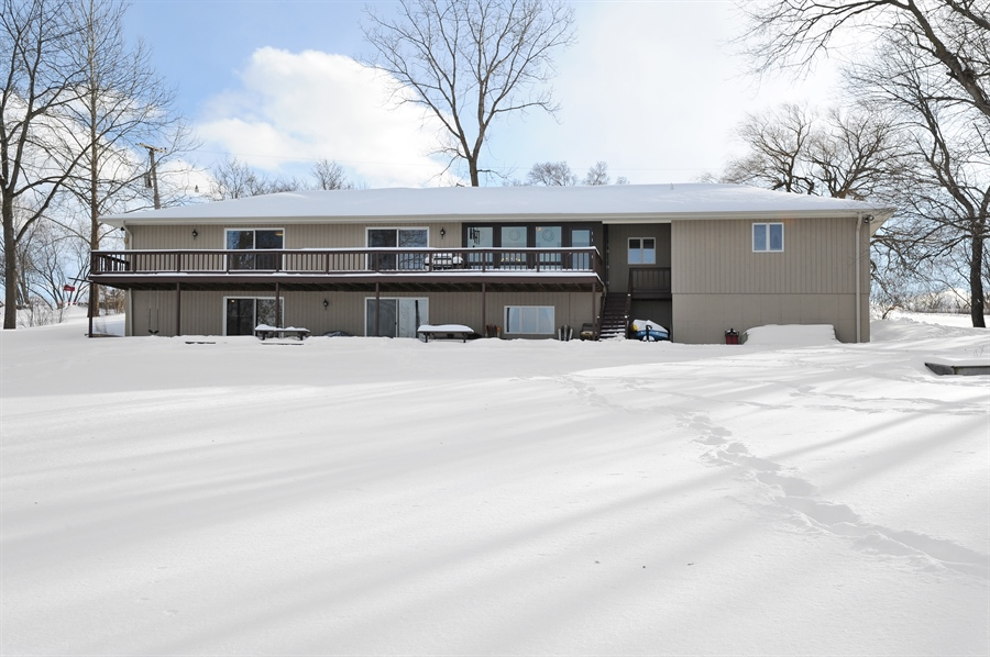 Real Estate Photography - 23862 W. Bayview Road, Antioch, IL, 60002 - Rear view featuring upper and lower deck