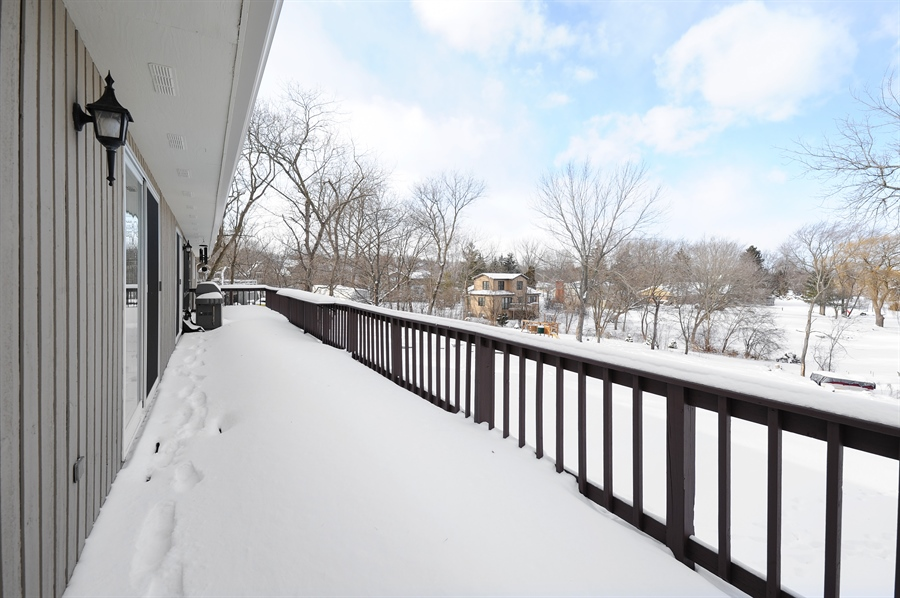 Real Estate Photography - 23862 W. Bayview Road, Antioch, IL, 60002 - Balcony/Deck overlooking Lake Antioch