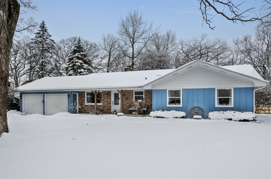 Real Estate Photography - 43W850 Nottingham Drive, Elburn, IL, 60119 - Outside Front with Front Porch