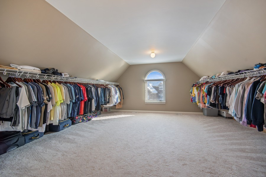 Real Estate Photography - 2219 Kane Lane, Batavia, IL, 60510 - Master Bedroom Closet