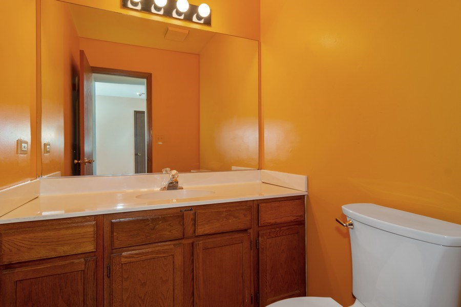Real Estate Photography - 862 N. Tamarac Boulevard, Addison, IL, 60101 - Half Bath