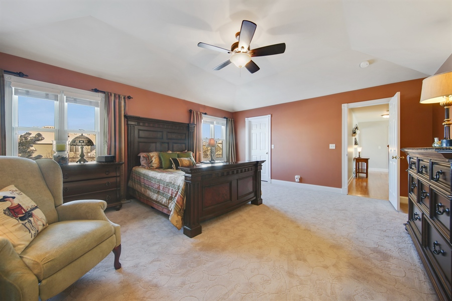 Real Estate Photography - 2907 Nicole Drive, Naperville, IL, 60564 - Master Bedroom