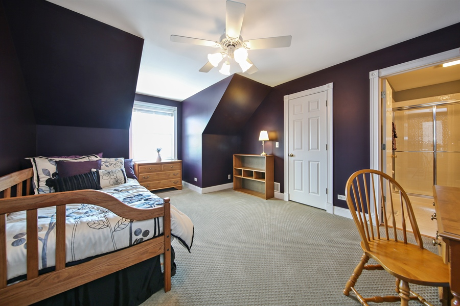 Real Estate Photography - 2907 Nicole Drive, Naperville, IL, 60564 - Bedroom Two with Private Bath