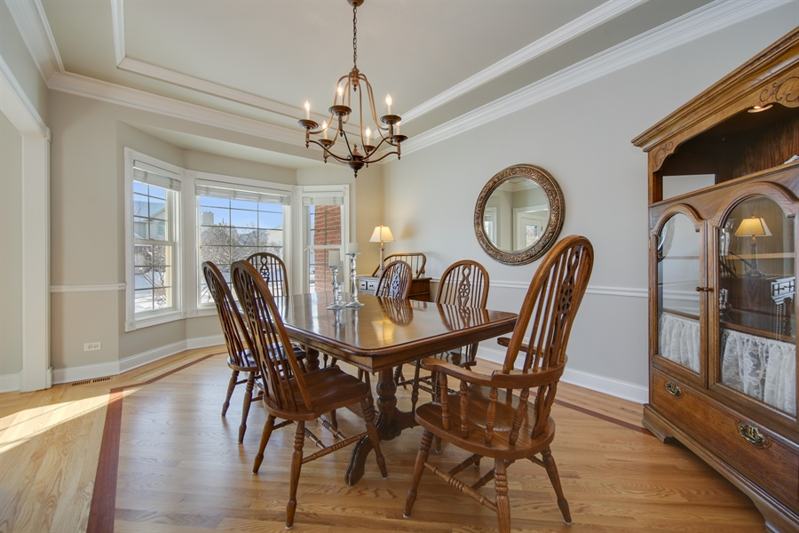 Real Estate Photography - 2907 Nicole Drive, Naperville, IL, 60564 - Dining Room