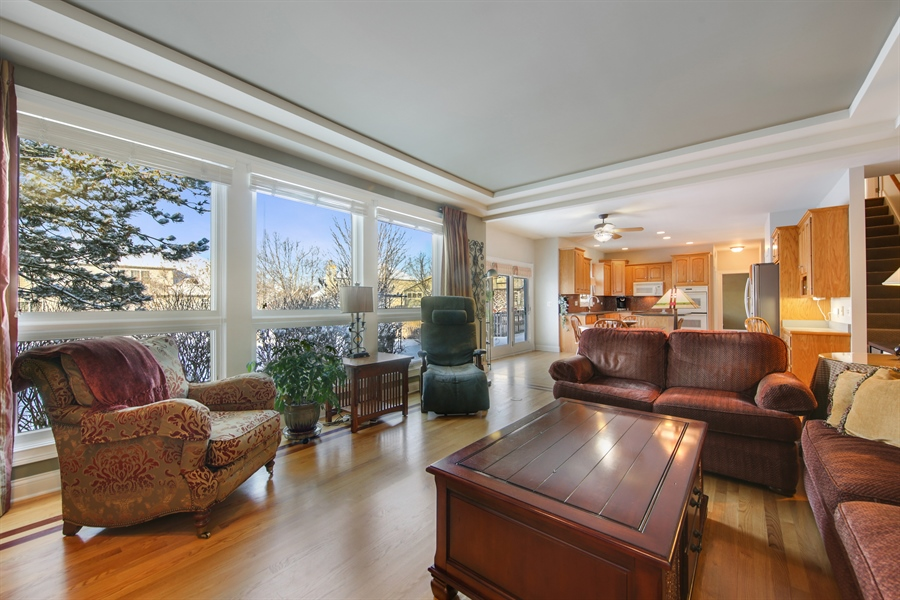 Real Estate Photography - 2907 Nicole Drive, Naperville, IL, 60564 - Family Room