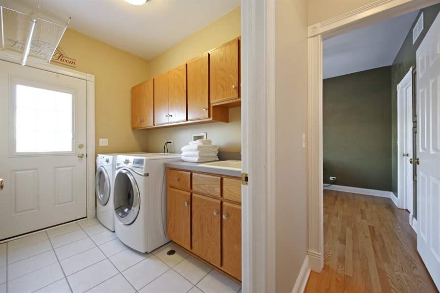 Real Estate Photography - 2907 Nicole Drive, Naperville, IL, 60564 - First Floor Laundry Room