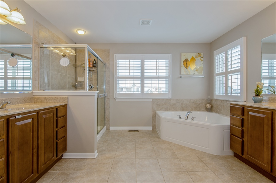 Real Estate Photography - 758 Goodfield Landing, Elgin, IL, 60124 - Master Bathroom