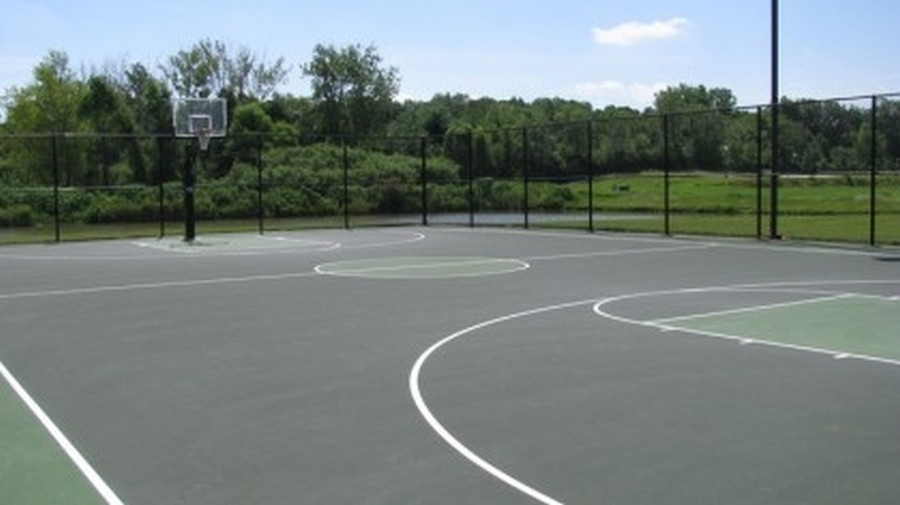 Real Estate Photography - 758 Goodfield Landing, Elgin, IL, 60124 - Basketball Courts