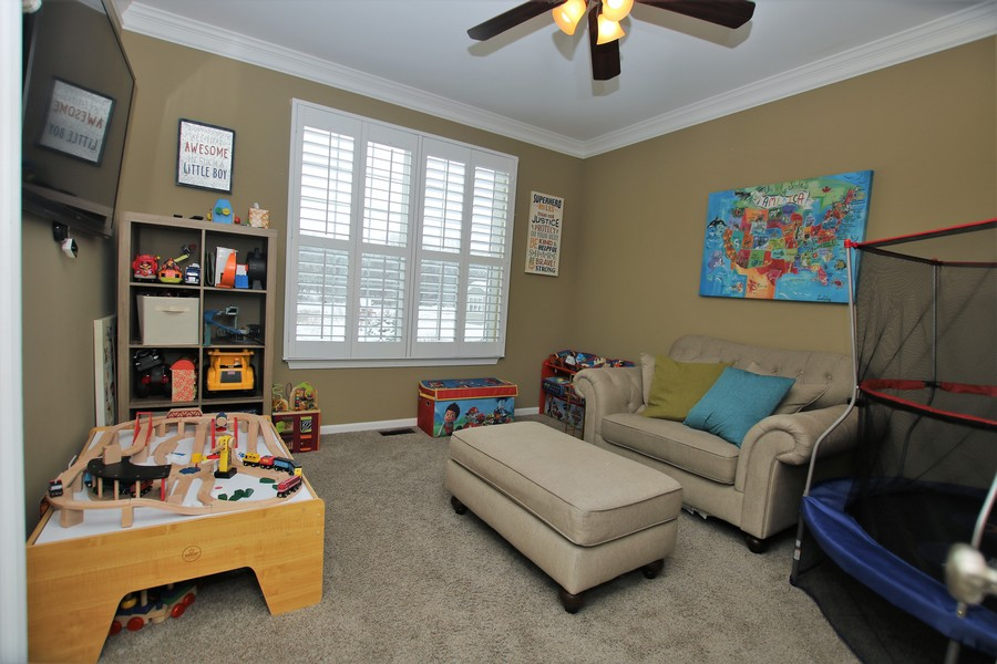 Real Estate Photography - 758 Goodfield Landing, Elgin, IL, 60124 - Main Level Den/Office/Playroom