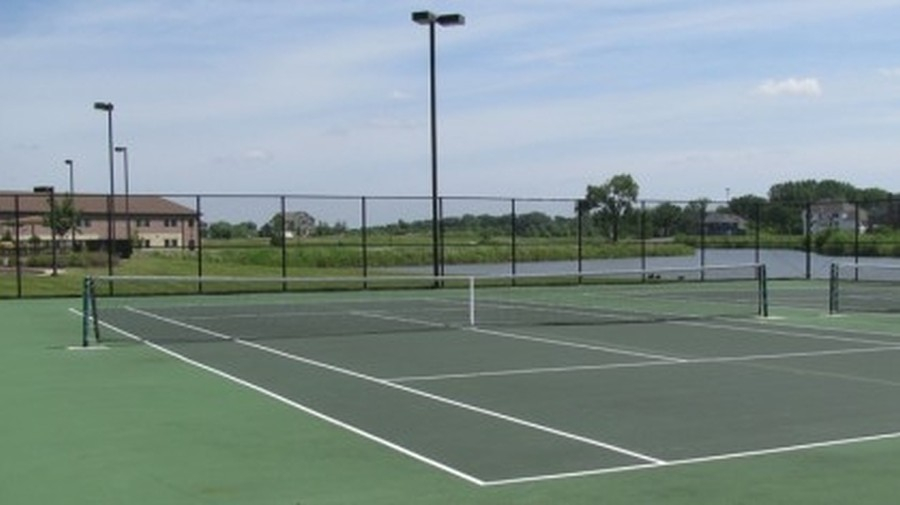 Real Estate Photography - 758 Goodfield Landing, Elgin, IL, 60124 - Tennis Courts