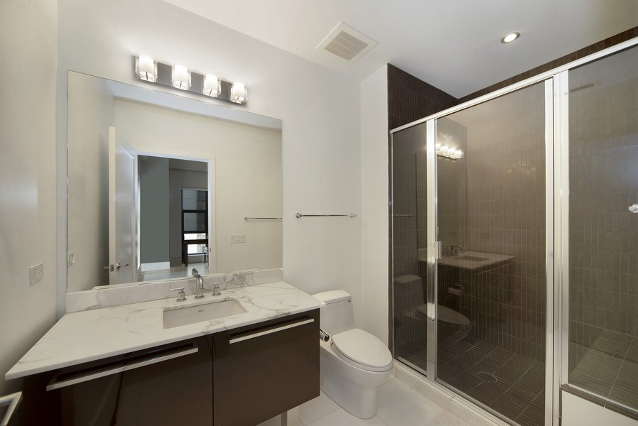 Real Estate Photography - 1035 N. DEARBORN Street, Unit 20, Chicago, IL, 60610 - 3rd Bathroom