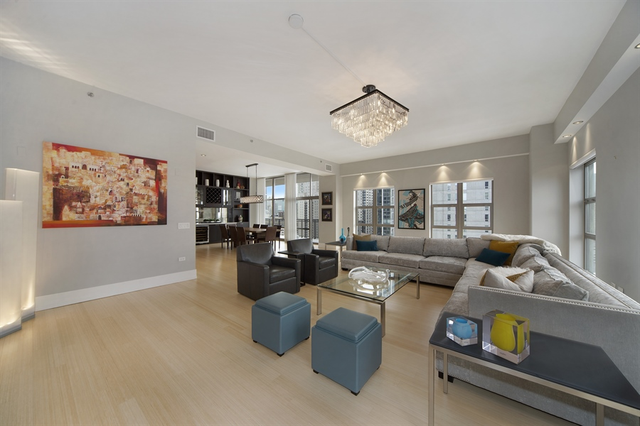 Real Estate Photography - 1035 N. DEARBORN Street, Unit 20, Chicago, IL, 60610 - Living Room