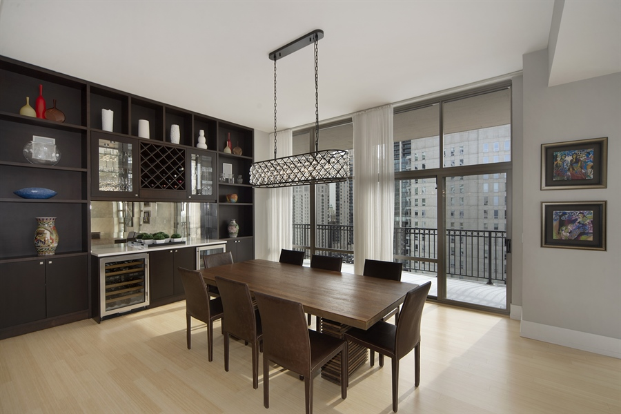 Real Estate Photography - 1035 N. DEARBORN Street, Unit 20, Chicago, IL, 60610 - Dining Room