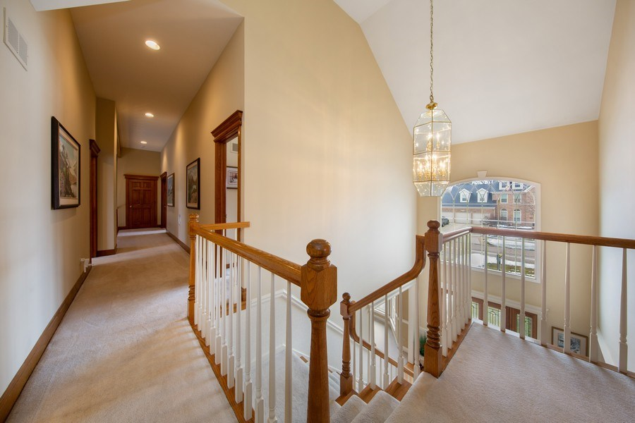 Real Estate Photography - 1485 Wilmette Street, Wheaton, IL, 60187 - 2nd Level Extra Wide and High Hallway