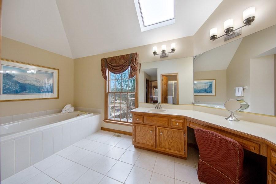 Real Estate Photography - 1485 Wilmette Street, Wheaton, IL, 60187 - Master Bathroom