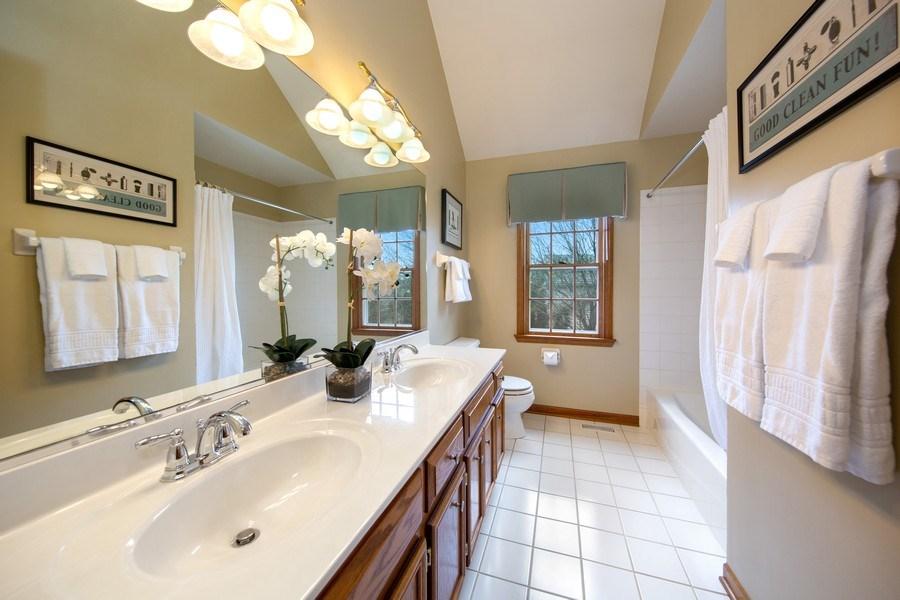 Real Estate Photography - 1485 Wilmette Street, Wheaton, IL, 60187 - Hall Bathroom