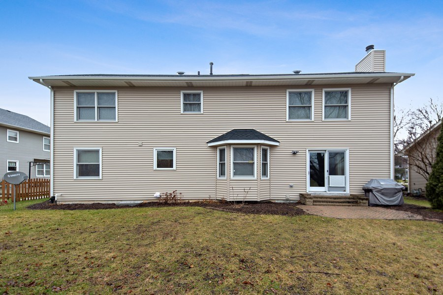 Real Estate Photography - 1385 Valayna Drive, Aurora, IL, 60504 - Rear View