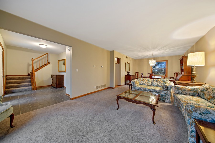 Real Estate Photography - 1385 Valayna Drive, Aurora, IL, 60504 - Living Room / Dining Room
