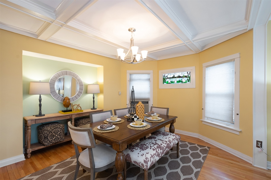 Real Estate Photography - 808 N. Humphrey Avenue, Oak Park, IL, 60302 - Dining Room