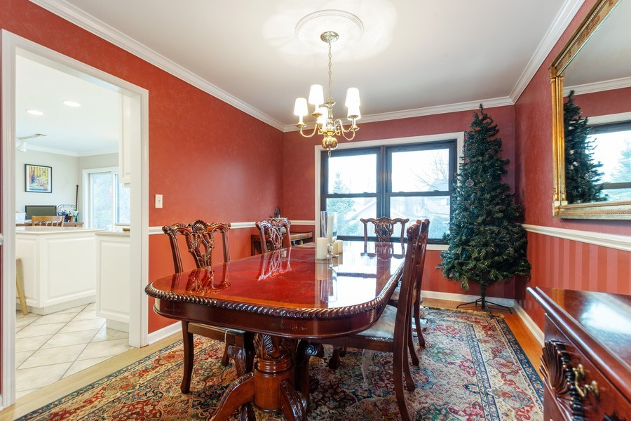 Real Estate Photography - 3860 Belleaire Drive, Downers Grove, IL, 60515 - Dining Room