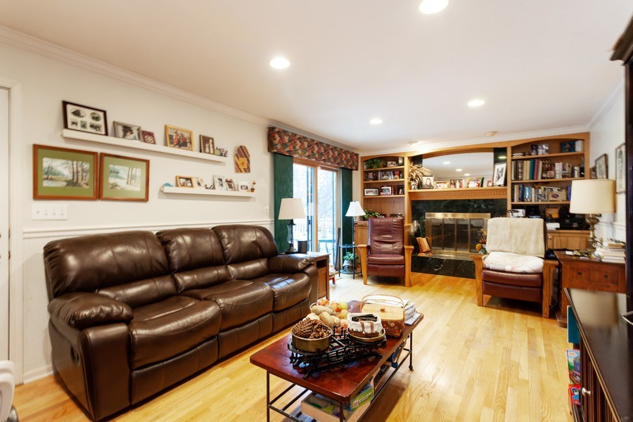 Real Estate Photography - 3860 Belleaire Drive, Downers Grove, IL, 60515 - Family Room