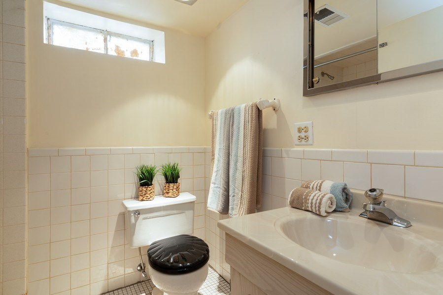 Real Estate Photography - 7734 Keeler Avenue, Skokie, IL, 60076 - 2nd Bathroom