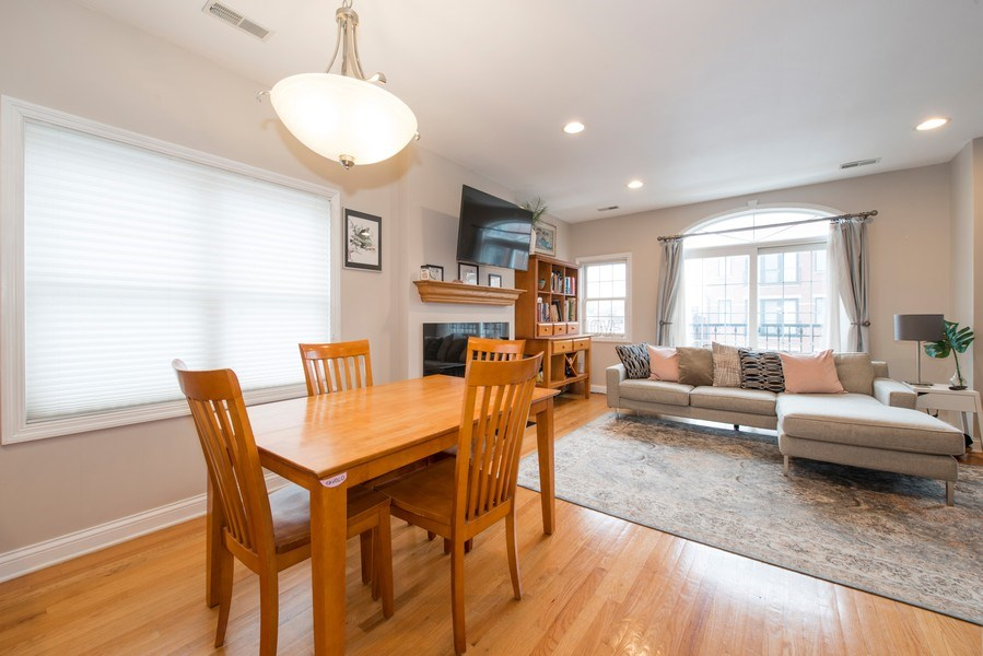 Real Estate Photography - 1926 W. BELMONT Avenue, Unit 3, Chicago, IL, 60657 - Dining Room