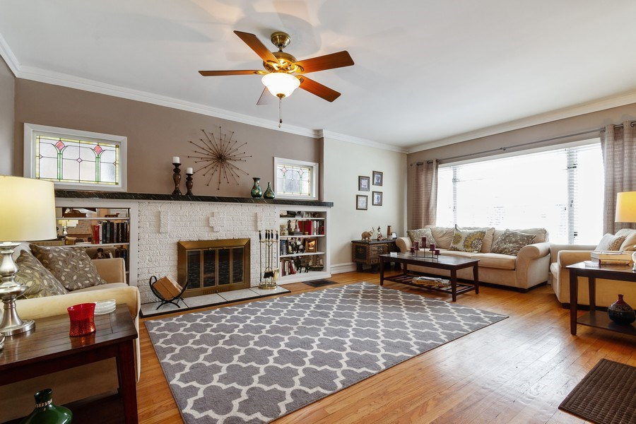 Real Estate Photography - 5319 W. Agatite Avenue, Chicago, IL, 60630 - Living Room
