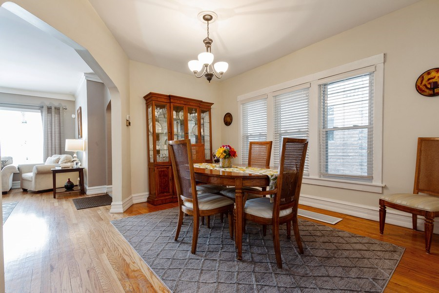 Real Estate Photography - 5319 W. Agatite Avenue, Chicago, IL, 60630 - Dining Room
