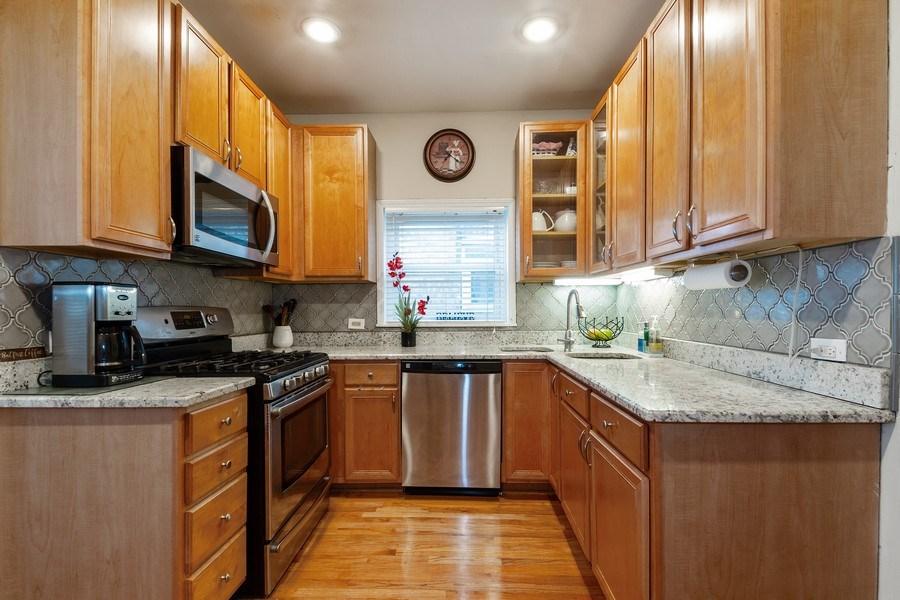 Real Estate Photography - 5319 W. Agatite Avenue, Chicago, IL, 60630 - Kitchen