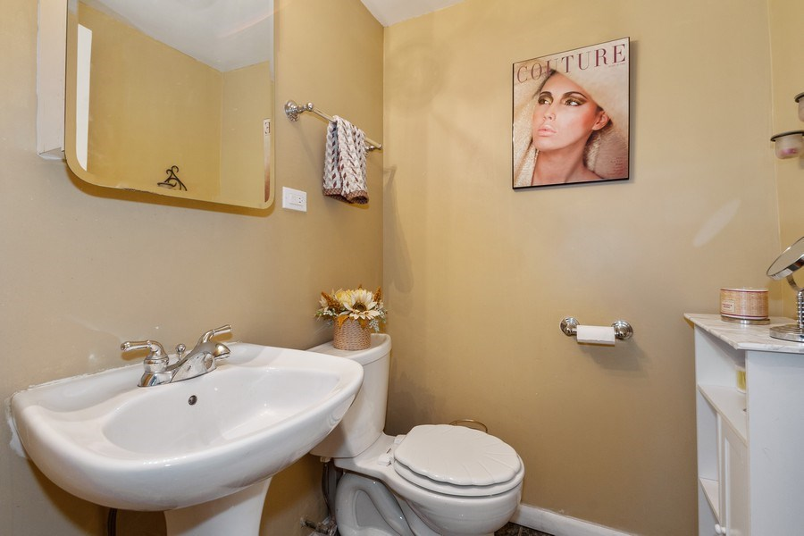 Real Estate Photography - 5319 W. Agatite Avenue, Chicago, IL, 60630 - Half Bath